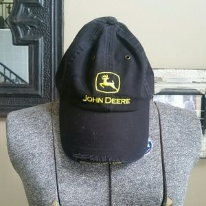 John Deere Accessories - 🚜Black & Yellow John Deere Adjust. Baseball Cap